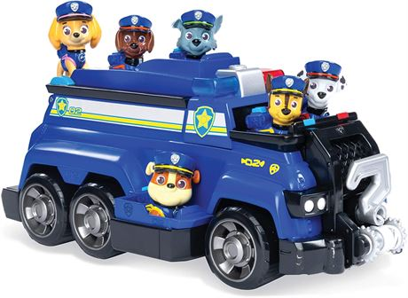 PAW Patrol, Chase's Total Team Rescue Police Cruiser Vehicle with 6 Pups