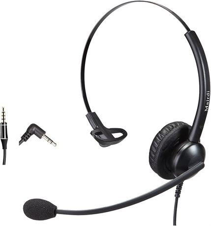 2.5mm Headset with Noise Canceling Microphone for Panasonic Telephone, Including