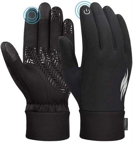SZ:M-Unisex Winter Gloves Touch Screen Windproof Thermal Anti-Slip Gloves