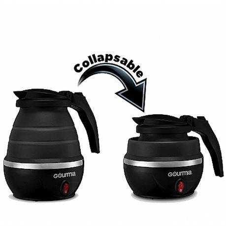 Gourmia GK360 Travel Foldable Electric Kettle - Food Grade Silicone, Collapses