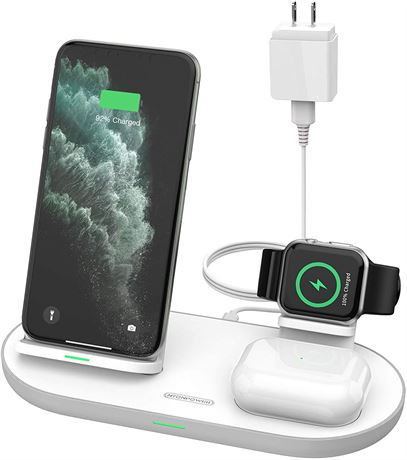 Wireless Charger, NTONPOWER 3 in 1 Wireless Charging
