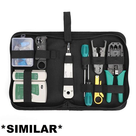 Network Tool Repair Kit,  Ethernet LAN Network Cable Tester Computer