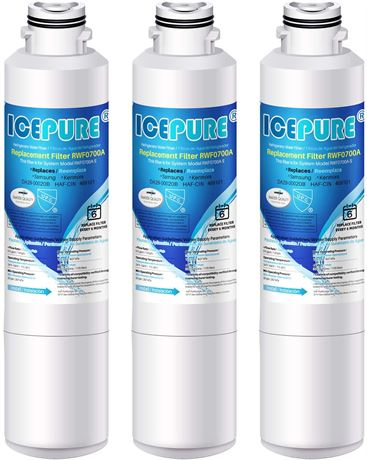 ICEPURE Samsung Replacement For RWF0700A Refrigerator Water Filter 3PK