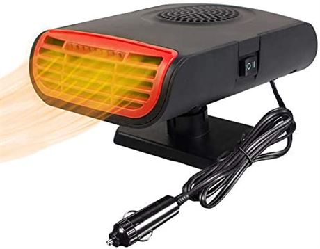 Funwill Car Heater, 3 IN 1 12V Portable Windshield Car Heater with Heating
