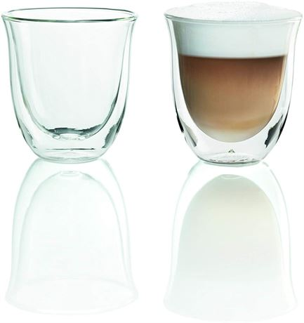 De'Longhi Cappuccino Double Walled Glasses-Set of Two