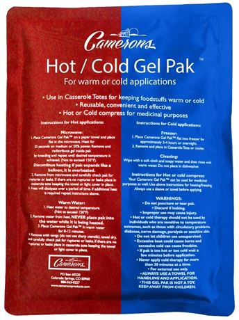 """Hot or Cold Gel Pack- XL Size (8 x 11"""") Reusable Ice Pak"""