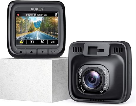 AUKEY Dash Cam Full HD 1080P Dash Camera for Cars with Supercapacitor
