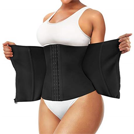 SZ:M-Waist Trainer Corset for Weight Loss Tummy Control Workout Body Shaper
