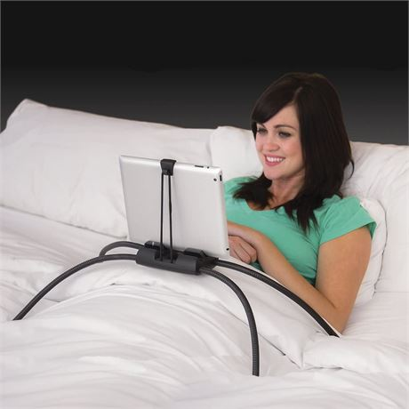 Tablift Tablet Stand for the Bed, Sofa, or Any Uneven Surface - BLACK