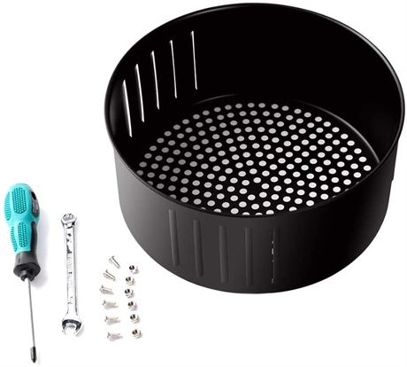Air Fryer Replacement Basket 3.7QT For Power Gowise USA Air Fryer and All Air Fr