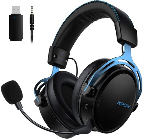 Mpow Air 2.4G Wireless Gaming Headset for PS4/PC Computer Headset with Dual Cham