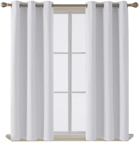 2Pc Blackout Curtain 42Wx84L Inch Off White