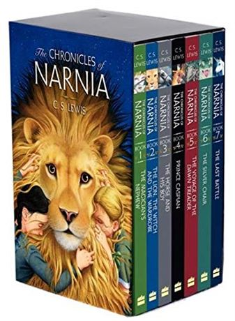 The Chronicles of Narnia 8-Book Box Set + Trivia Book Paperback