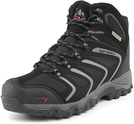 NORTIV 8 Men's Ankle High Waterproof Hiking Boots Outdoor Lightweight Shoes Back