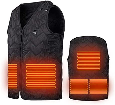 Electric USB Winter Warming Heated Vest *SIZE LARGE*