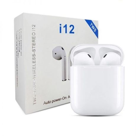 TWS i12 Earbuds Bluetooth 5.0 Earphones with HD Stereo Sound Touch-Control