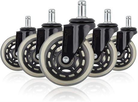 Mastery Mart Premium Caster Wheel Replacement for Office Chair, Heavy Duty 5PC