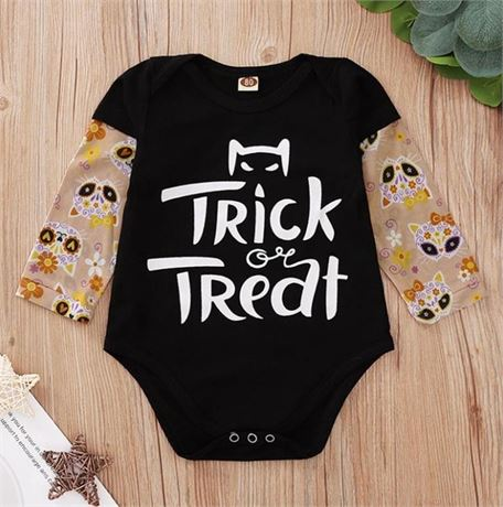 Halloween Baby Boy Tattoo Sleeve T Shirt Infant Outfits 6-9MONTHS 1PK EA