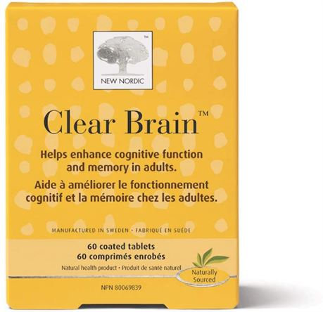 Clear Brain Tablets 60 Count