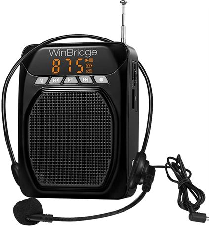 WinBridge Voice Amplifier M700 with Wired Microphone Headset