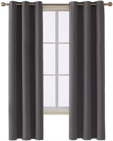 2Pc Blackout Curtain 55Wx108L Inch Off White