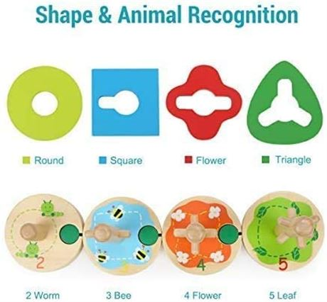 TOP BRIGHT Wooden Educational Toys