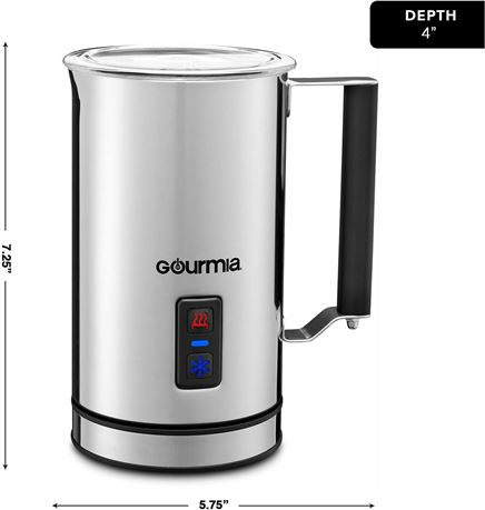 Gourmia GMF215 Cordless Electric Milk Frother & Heater