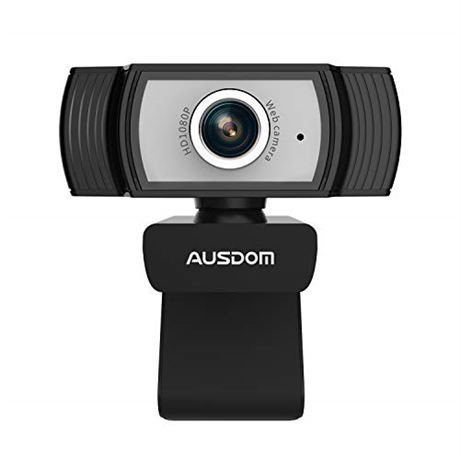 Full HD 1080P Webcam, AUSDOM AW33 Stream 90° Wide Viewing Angle USB Web cam with