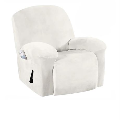 H.VERSAILTEX Recliner Chair Cover Velvet Plush 1-Piece Recliner Covers for Large