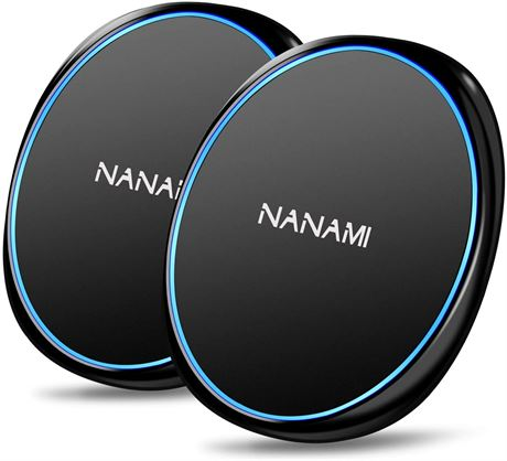 NANAMI Fast Wireless Charger[2 PACK],7.5W Wireless Charging Pad Compatible